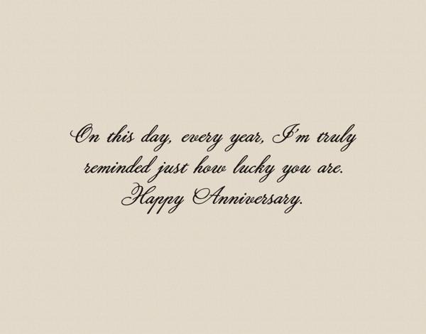 Sarcastic Anniversary Card
