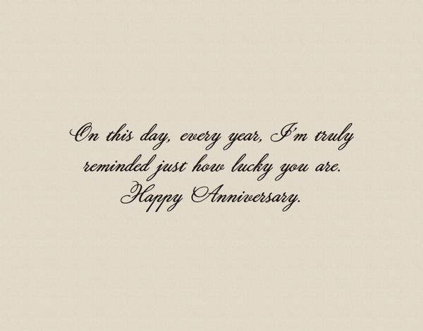 Sarcastic Anniversary Card