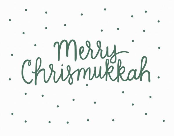 Merry Chrismukkah Greeting Card
