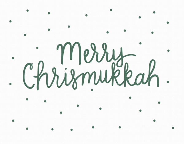 Merry Chrismukkah Greeting Card