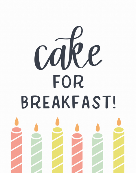 Cake For Breakfast