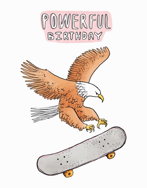 Skateboarding Eagle