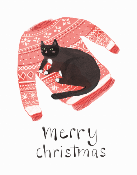 Cat Christmas Sweater