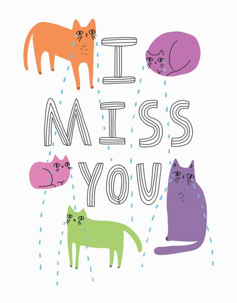 Sad Cats Missing You