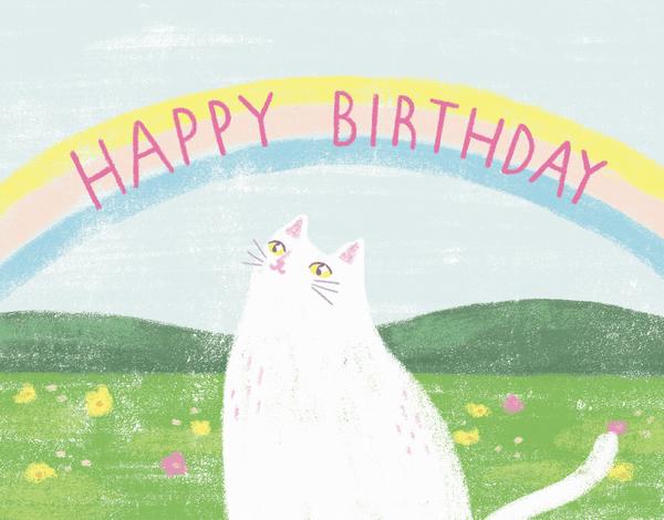 Rainbow Cat Birthday