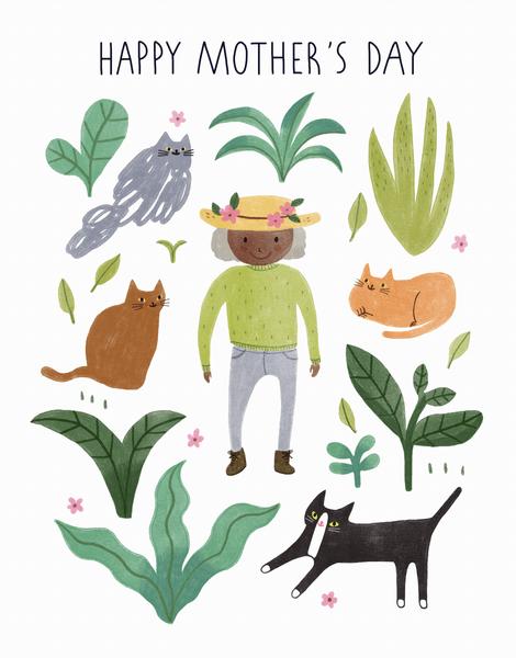 Cat Lady Gardening