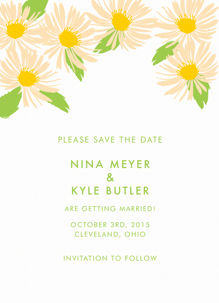 Daisy Save the Date