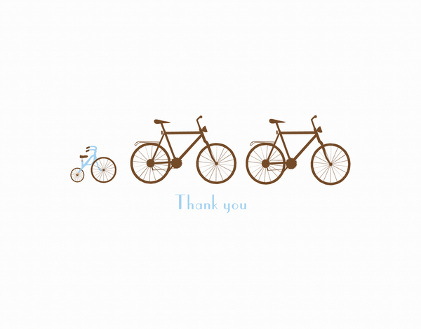 Family of Bicycles Thank You Card