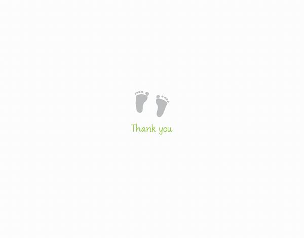 Tiny Footprints Thank You Card
