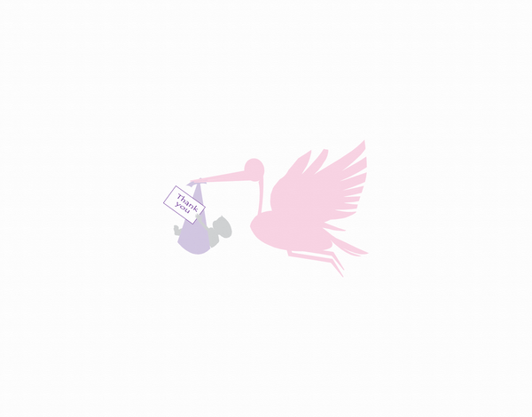 Stork Delivery Thank You Card