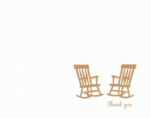 Classic Rocking Chair Thank You Card