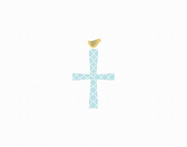 Religious Cross Thank You Card