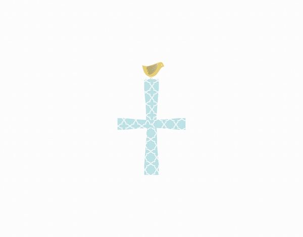 Religious Cross Thank You Card