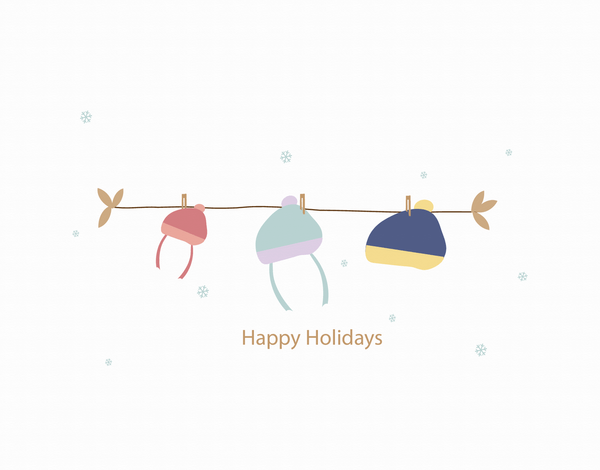 Winter Hats Holiday Card
