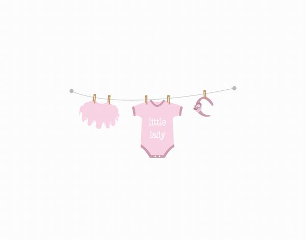 Little Lady Newborn Greeting Card