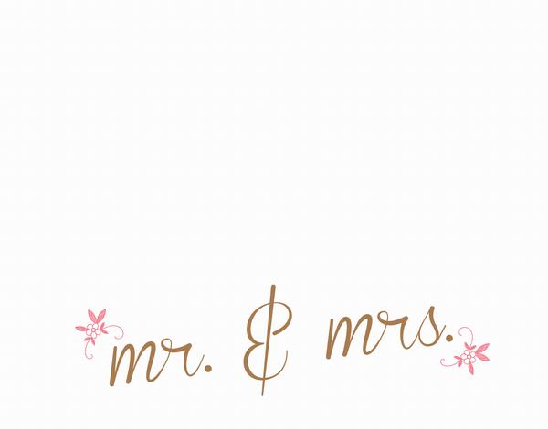 Mr & Mrs Calligraphic Stationery