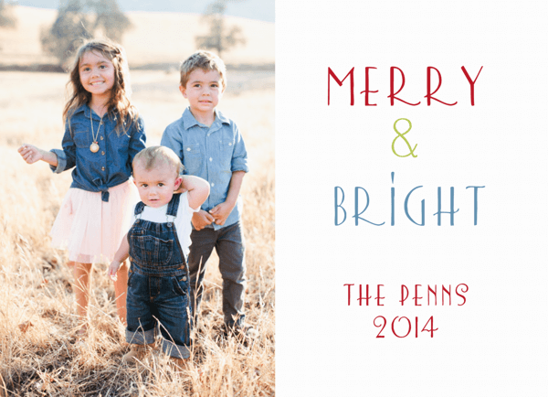 Merry and Bright Custom Photo Card
