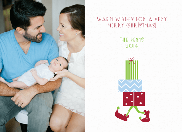 Customizable Christmas Elf Holiday Card