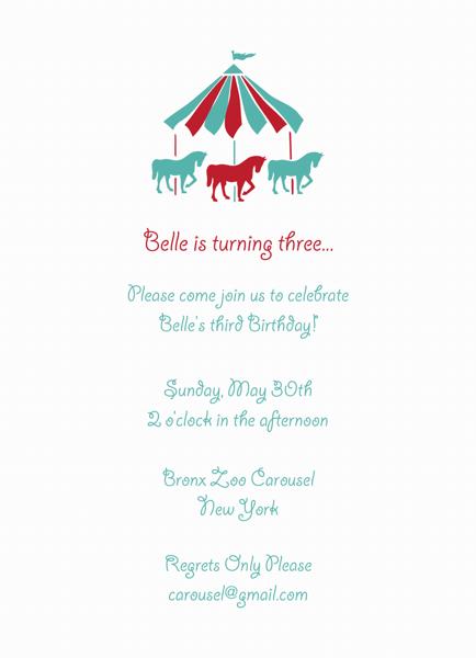 Carousel Birthday Invite