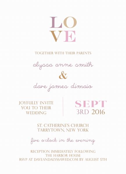 Pink Love Invite