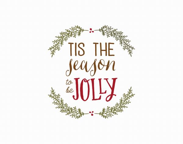 tis the season to be jolly greeting card