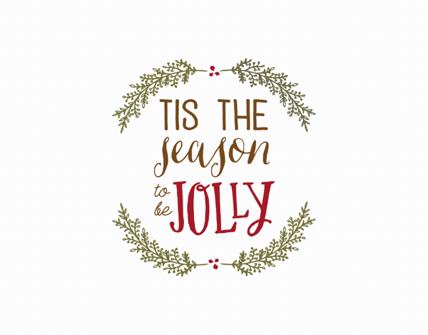 tis the season to be jolly greeting card
