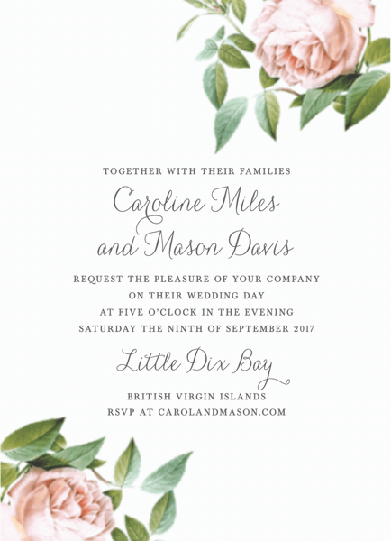Vintage Botanical Invite