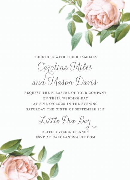 Vintage Botanical Invite