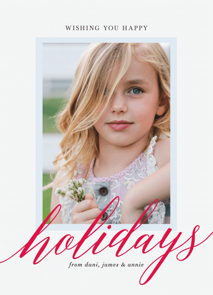 classic photo portrait holiday card