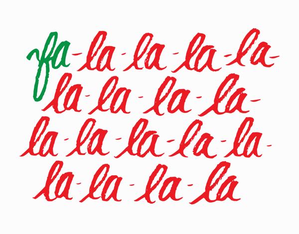 Fa-La-La-La-La Card