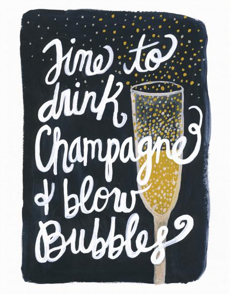 Drink Champagne & Blow Bubbles
