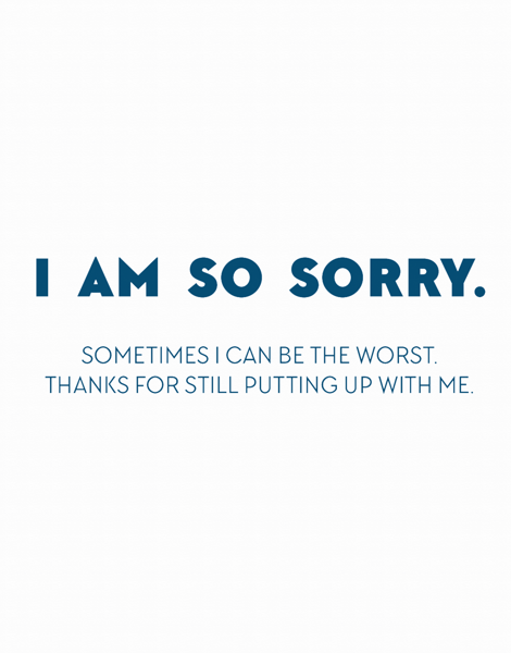 I'm Sorry Cards | Postable