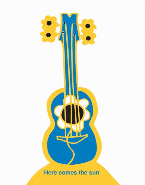 Hand Drawn Guitar Friend Card