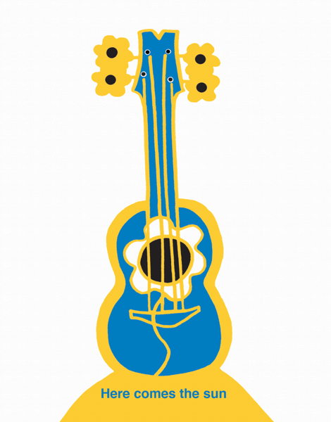 Hand Drawn Guitar Friend Card