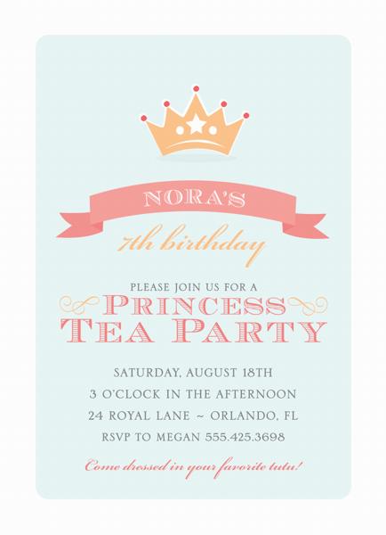 Princess Tea Party Invite