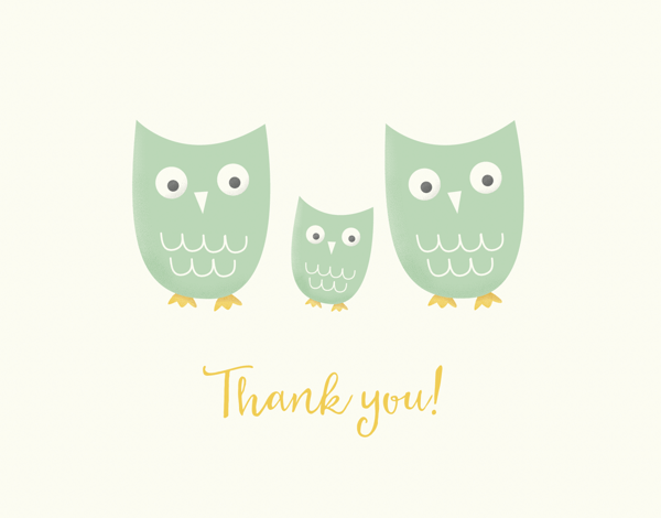 Owl Family Thank You