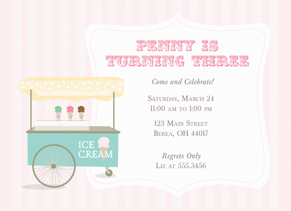 Ice Cream Invite