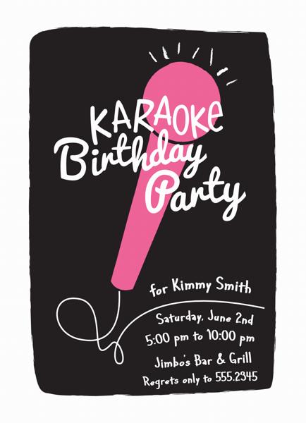 Karaoke Invite