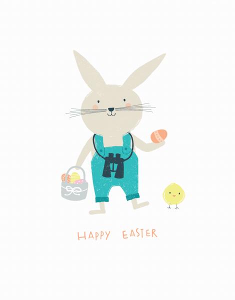Egg Hunting Bunny