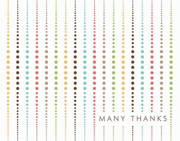 Multicolor Dot Thank You Card