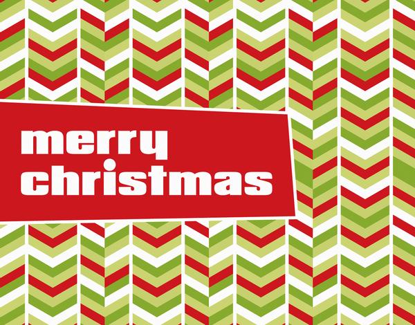 Retro Chevron Christmas Card