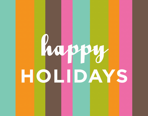 Multicolor Striped Holiday Greeting