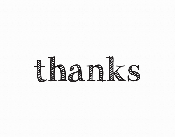 Classic Striped Thank You Card