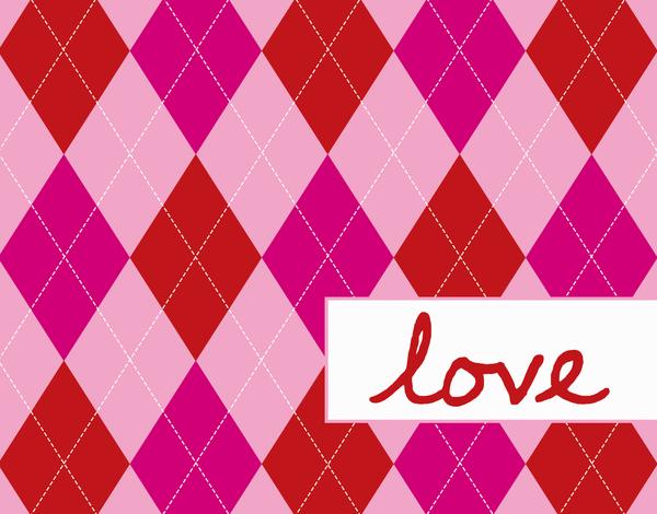 Pink Plaid Love Card