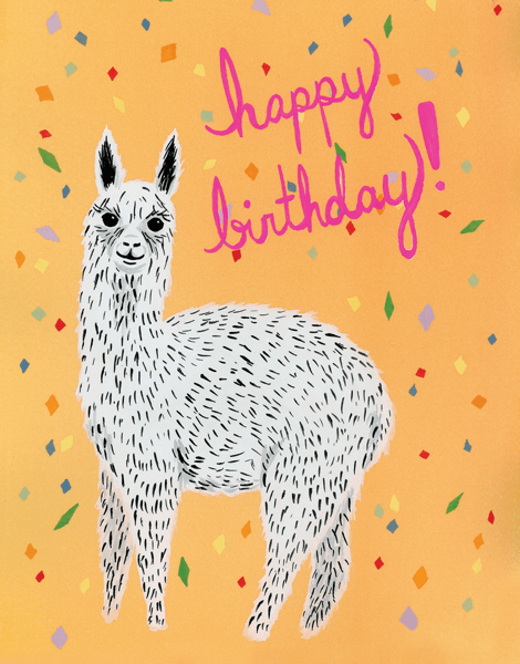 Birthday Alpaca