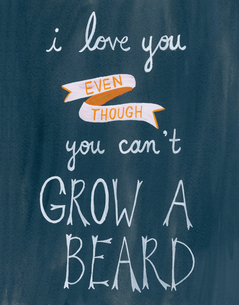 Can't Grow A Beard