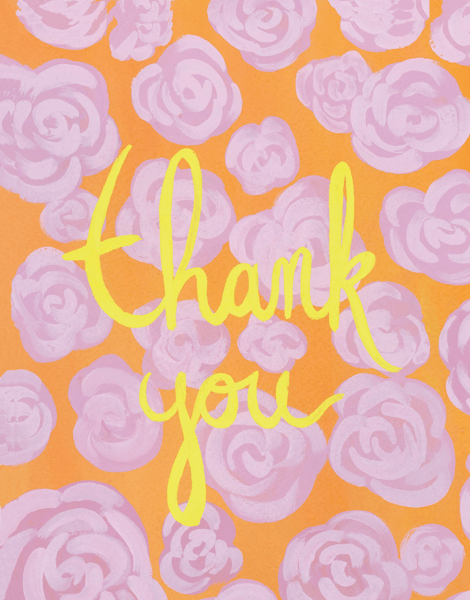 Bright Floral Thank You