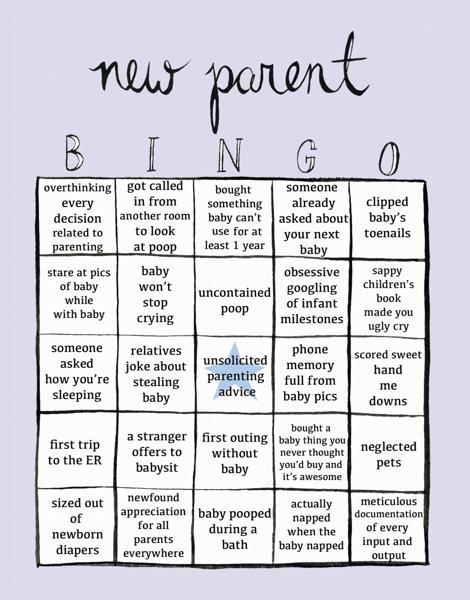 New Parent Bingo