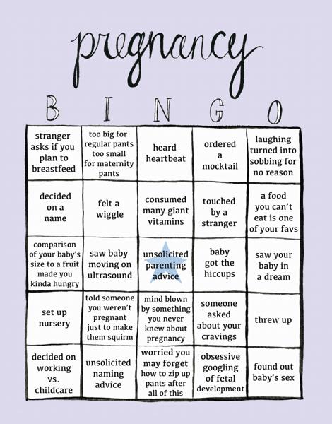 Pregnancy Bingo