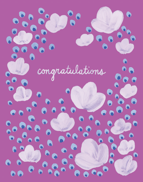 Pink And Purple Congrats